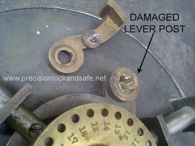 Damaged Lever Post