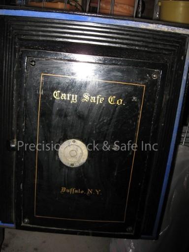 cary safe back panel before restoration